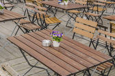 Kaffe terrass — Stockfoto