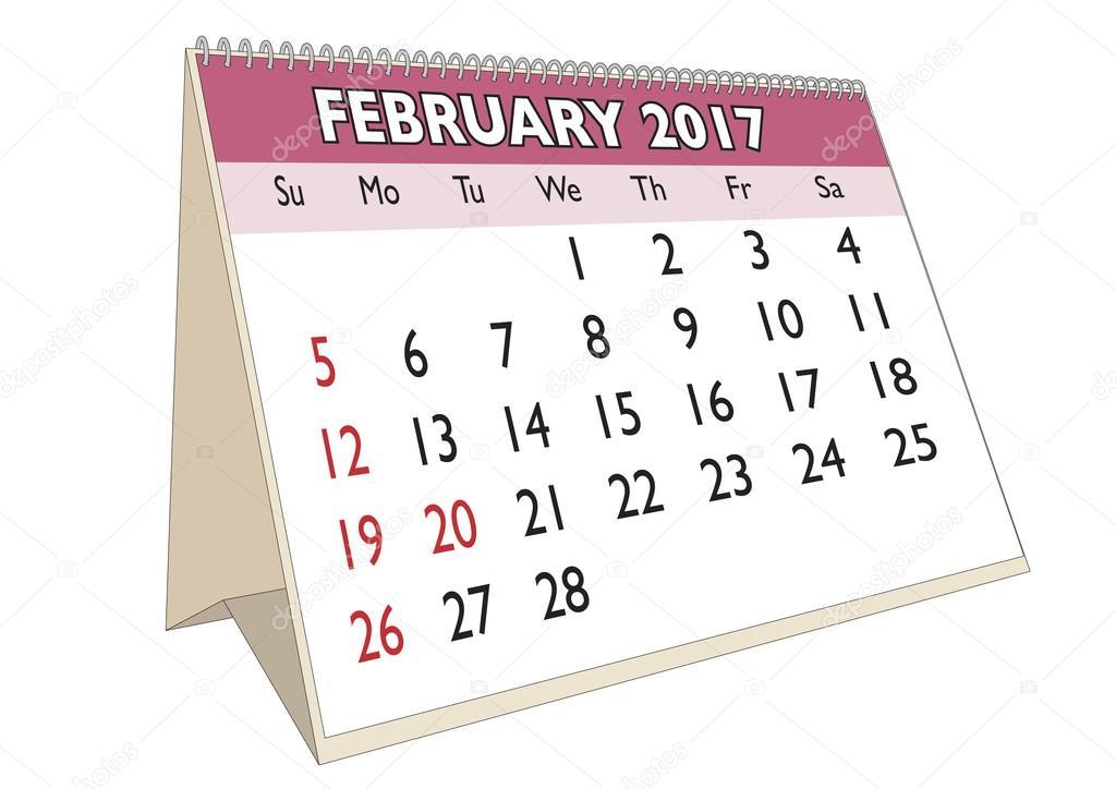 Resultado de imagen para calendario febrero 2017
