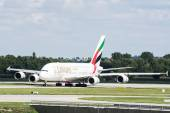 A380 at Munich Airport — Stock Photo