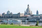 Dresden Elbe Promenade — Stock Photo