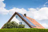 Modern House with Photovoltaic System — Stock Photo