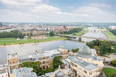 View over Dresden and River Elbe — Stock Photo