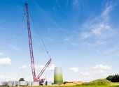 Windmill Construction Site — Stock Photo