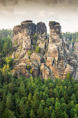 Sandstone Mountains in Saxony — Stock Photo