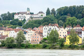 Waterfront of Passau at the River Inn — Stock Photo