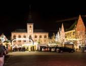 Traditional German Christmas Market — Stock Photo