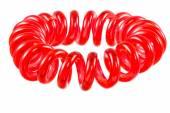 Espiral roja elástica aislada Hari Tie — Foto de Stock