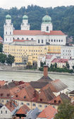 View over Passau and the River Inn — Stock Photo