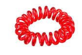 Isolated Elastic Red Spiral Hari Tie — Stock Photo