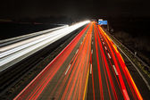 Light Trails on the Highway — Stock Photo