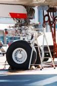 A380 landing gear — Stock Photo