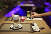 Coffee on the table at the restaurant — Стоковое фото