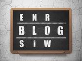 Web design concept: word Blog in solving Crossword Puzzle — Stock Photo