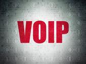 O conceito de desenvolvimento Web: Voip no plano de fundo Digital — Fotografia Stock