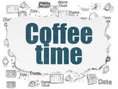Timeline concept: Coffee Time on Torn Paper background — Stock Photo