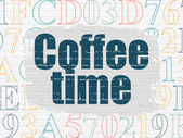 Timeline concept: Coffee Time on wall background — Stock Photo