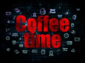 Timeline concept: Coffee Time on Digital background — Stock Photo