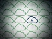 Cloud computing concept: cloud icon on digital background — Stock Photo