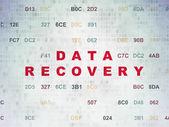Informatie concept: Data Recovery op digitale papier achtergrond — Stockfoto