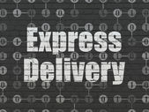 Finance concept: Express Delivery on wall background — Stock Photo