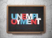 Business concept: Unemployment on School Board background — Stock Photo