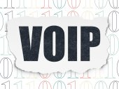 Web development concept: VOIP on Torn Paper background — Stockfoto