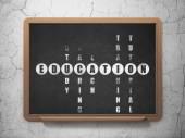 Education concept: word Education in solving Crossword Puzzle — ストック写真
