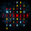 Safety concept: word Password in solving Crossword Puzzle — Stock Photo #71121405