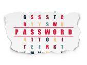 Security concept: word Password in solving Crossword Puzzle — ストック写真