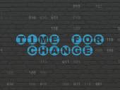 Time concept: Time for Change on wall background — Stock Photo