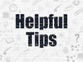 Concepto de Educación: consejos útiles sobre fondo de pared — Foto de Stock