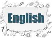 Education concept: English on Torn Paper background — Stock Photo