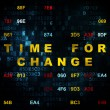 Timeline concept: Time for Change on Digital background — Stock Photo #71214939