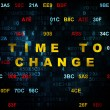 Timeline concept: Time to Change on Digital background — Stock Photo #71214949