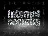 Protection concept: Internet Security in grunge dark room — Stockfoto
