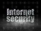 Protection concept: Internet Security in grunge dark room — Foto de Stock