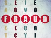 Protection concept: word Fraud in solving Crossword Puzzle — Stockfoto
