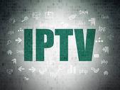 Web development concept: IPTV on Digital Paper background — Stock Photo