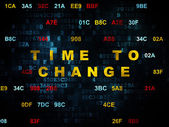 Timeline concept: Time to Change on Digital background — Stock Photo