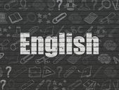Education concept: English on wall background — Stock Photo