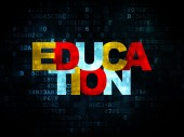 Education concept: Education on Digital background — Stock Photo