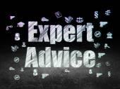 Law concept: Expert Advice in grunge dark room — Stock Photo