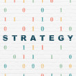 Finance concept: Strategy on wall background — Stock Photo #71297987