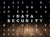 Protection concept: Data Security in grunge dark room — Stock Photo