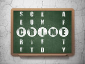 Safety concept: word Crime in solving Crossword Puzzle — Stock Photo