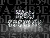 Privacy concept: Web Security in grunge dark room — Stock Photo