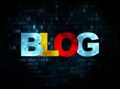 O conceito de desenvolvimento Web: Blog sobre fundo Digital — Fotografia Stock