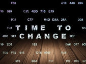 Time concept: Time to Change in grunge dark room — Stock Photo