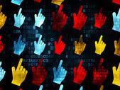 Conceito de comercialização: ícones do Cursor do Mouse sobre o fundo Digital — Fotografia Stock