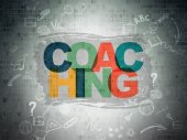 Education concept: Coaching on Digital Paper background — Stock Photo